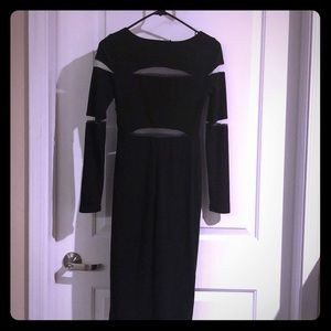 Bailey 44 Black and Mesh Dress
